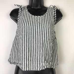 Madewell Striped Crop Tank Top XS
